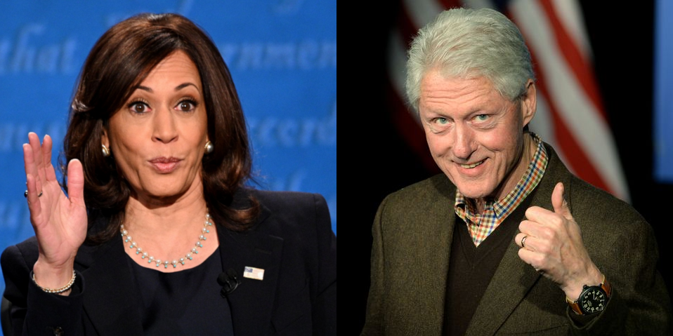 Kamala Harris and Bill Clinton