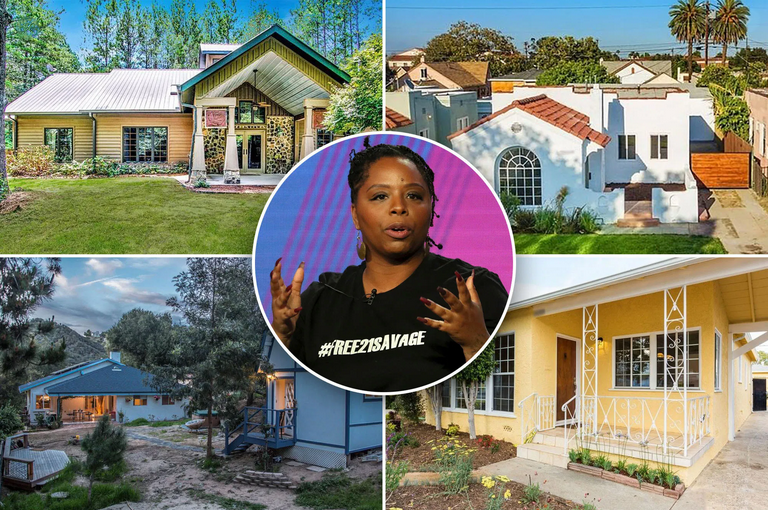 BLM co-founder Patrisse Cullors and her four 
