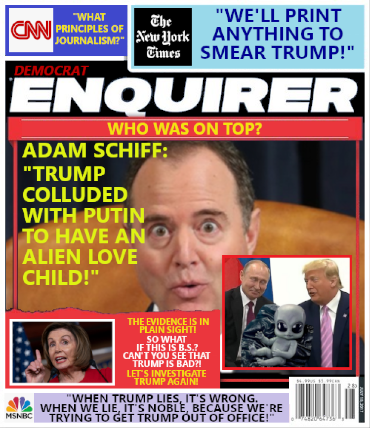 Adam Schiff's Russian Collusion Theory:  Trump and Putin with 