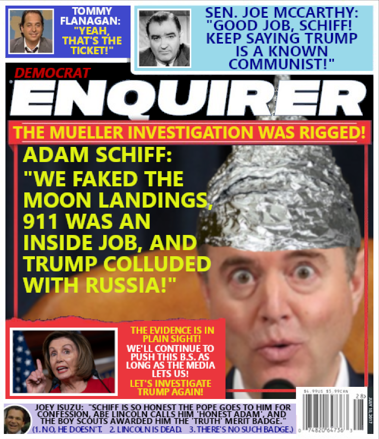 Adam Schiff's Russian Collusion Theory:  Various Conspiracy Theories.
